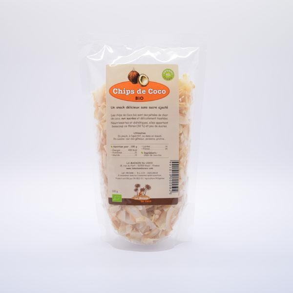 Chips de Coco Bio – Sachet de 130g