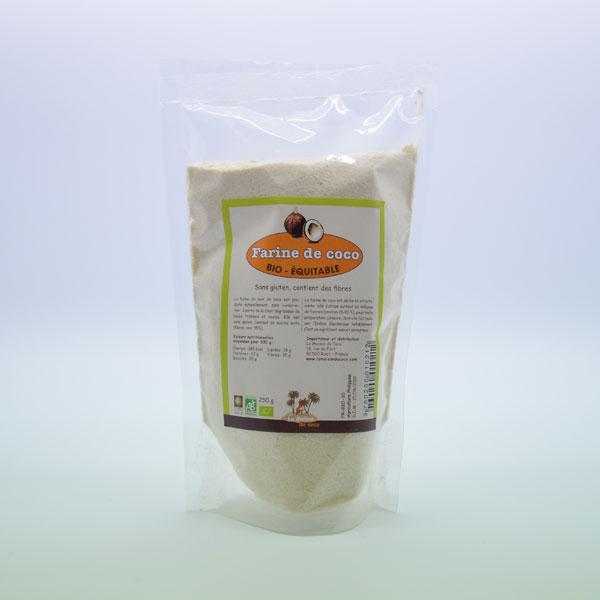 Farine de Coco Bio – Sachet de 250g