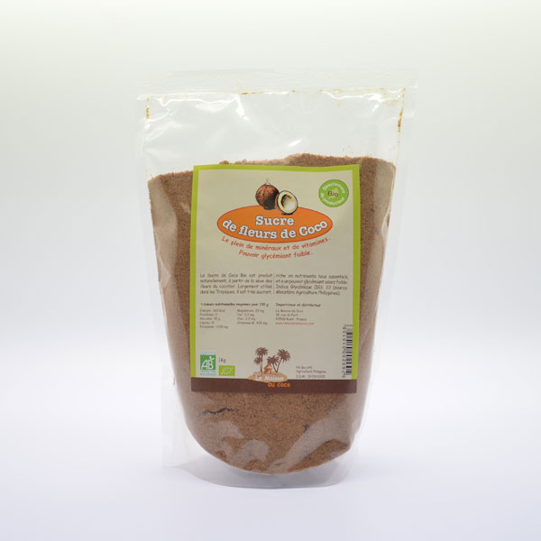 Sucre de Fleurs de Coco Bio – Sachet de 1kg