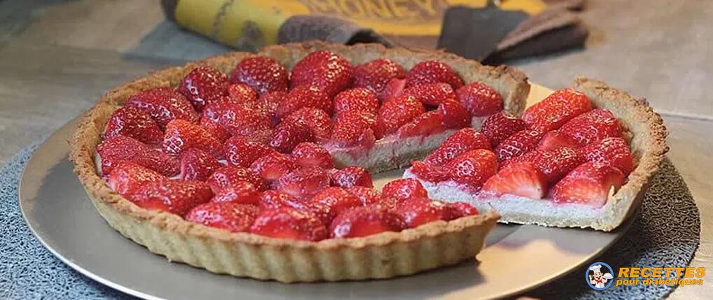 tarte-fraise-allégée-erythritol